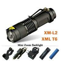 Mini Zoom Lanterna Led Flashlight Torch CREE XML T6 L2 Led Rechargeable Flashlight 2800 Lumens Use