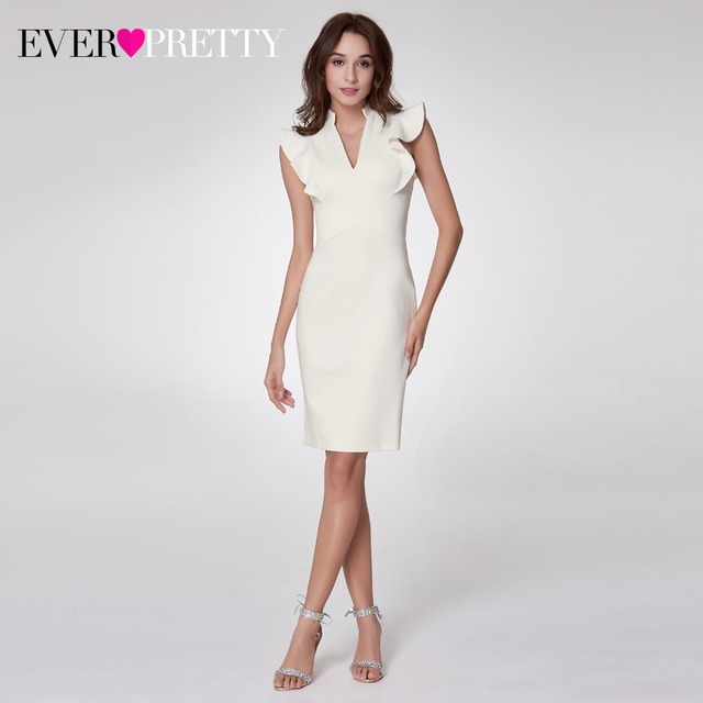 New Arrival Cocktail Dresses Ever Pretty EP05967 Women's V-neck Elegant Party Dresses with Ruffles  Robe Cocktail Cocktail Dresses