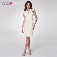 New Arrival Cocktail Dresses Ever Pretty EP05967 Women S High Stretch V Neck Straight Elegant Knitted