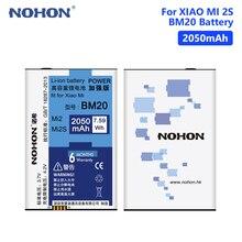 NOHON BM20 Battery For Xiaomi 2 2S M2 M2S Mi2 Mi2S Real 2050mAh Lithium Polymer Rechargeable Phone Bateria Batteries потребительская электроника xiaomi xiaomi mi2 mi2s mi2a mi1s m1