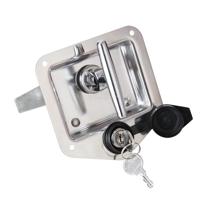 DHL 20 pièces coffre serrure remorque porte loquet t-poignée verrouillage en acier inoxydable camping-car RV boîte à outils crochet Type JF1536