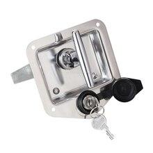 цены DHL 20PCS Trunk Lock Trailer Door Latch T-Handle Locking Stainless Steel Camper RV Toolbox Hook Type JF1536