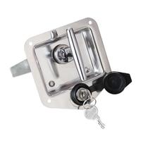 DHL 20PCS Trunk Lock Trailer Door Latch T Handle Locking Stainless Steel Camper RV Toolbox Hook Type JF1536