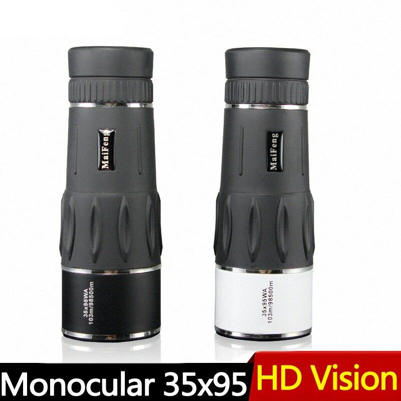 New 35X95 Hunting Monocular Zoom HD Telescope Travel High Power Magnification Quality Binoculars Bird Watching Monoculo Spyglass цены
