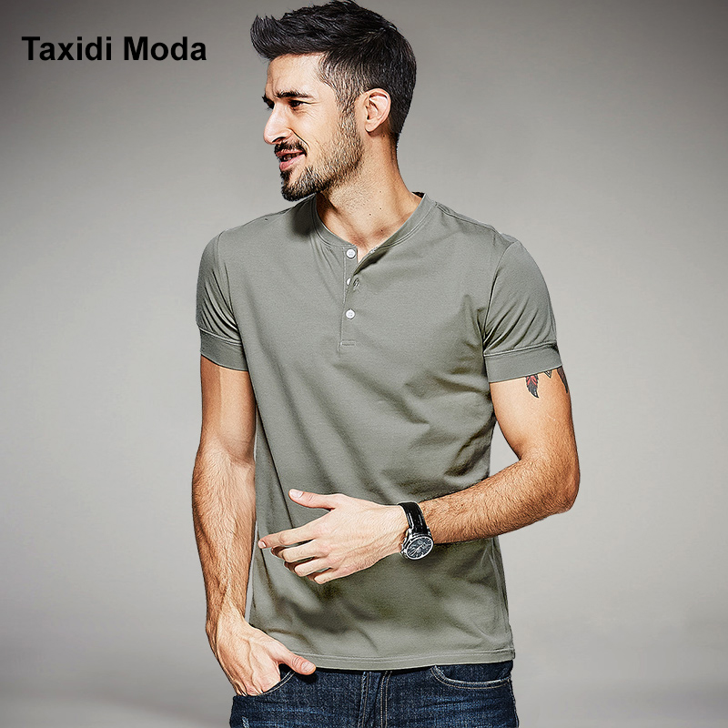 2017 Summer Mens Casual T-Shirts Gray Grs