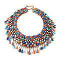 2017 New Fashion Exaggeration Beads Pendants Multicolor Bubble Statement Choker Necklace