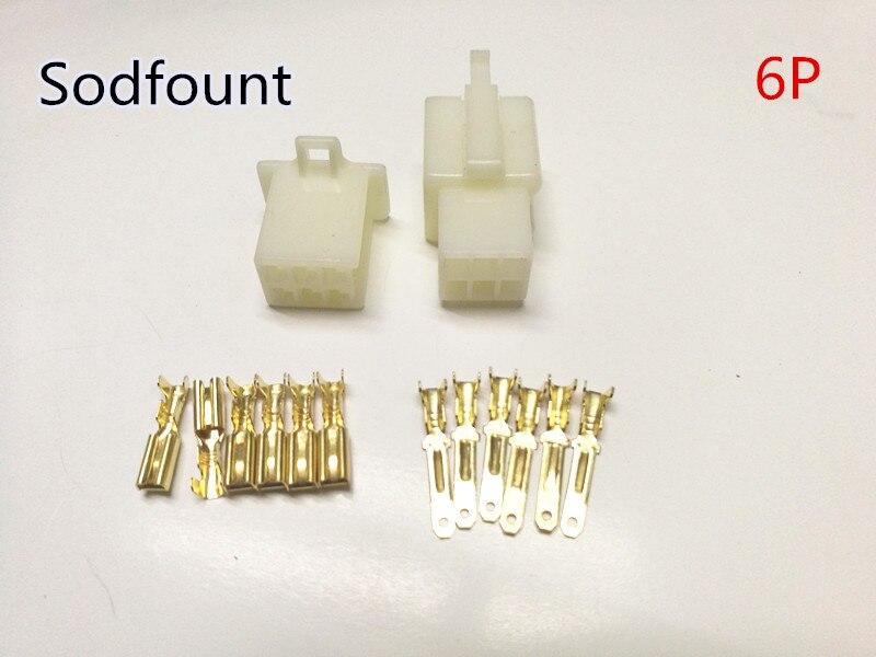 Moto 10/de 2,8/mm connecteur 4/broches fil /électrique automatique de voiture 2,8/connecteur pour E-bike automobile etc.
