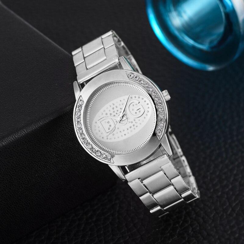 Zegarki damskie new casual watches women fashion luxury watch rhinestone wristwatches full steel gold Men watch kol saati in Women 39 s Watches from Watches