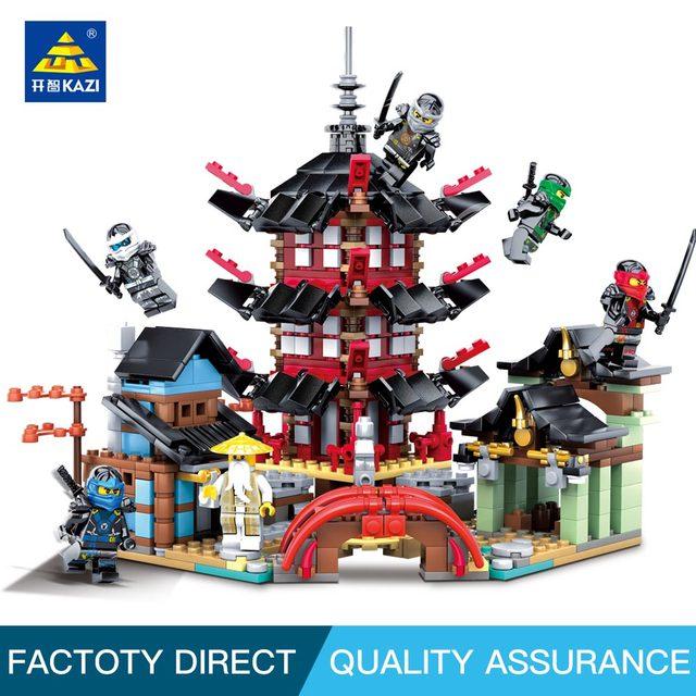 Kazi Templo Ninja Filme Modelo de Barco Dragão Educaition Transformação de Blocos de construção Tijolos Brinquedos para crianças Compatível leg0