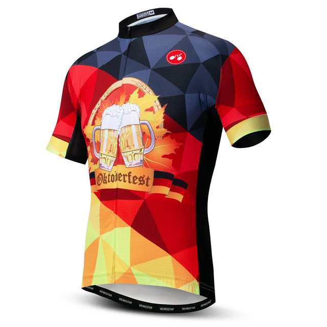 placeholder German Men Short Sleeve Summer Cycling Jersey Clothing MTB  Print Beer Bike Wear Ropa ciclismo Maillot 9d61d2f69