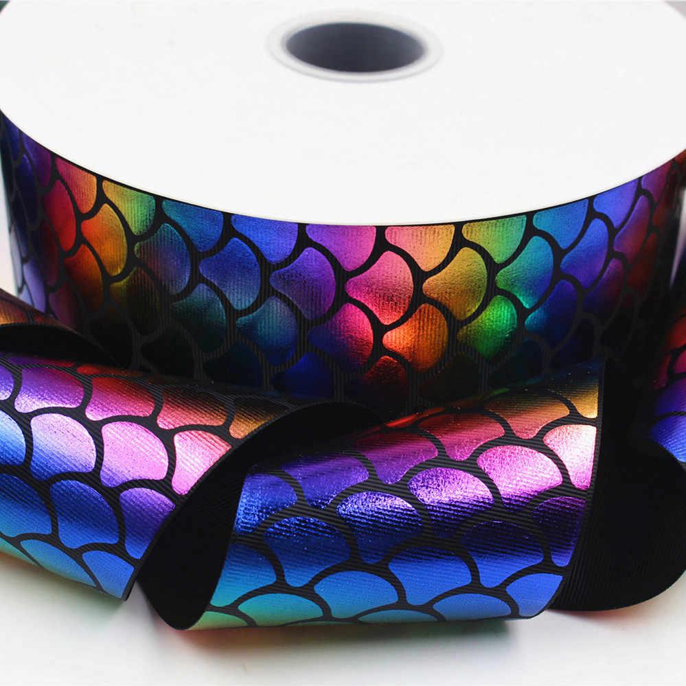 """OOOT BAORJCT 17328-9,3 """"75 мм Цветы серии блеск цвет блеск лента с блестками 5ys, материалы для ручных поделок, свадебный подарок обёрточная бумага"""