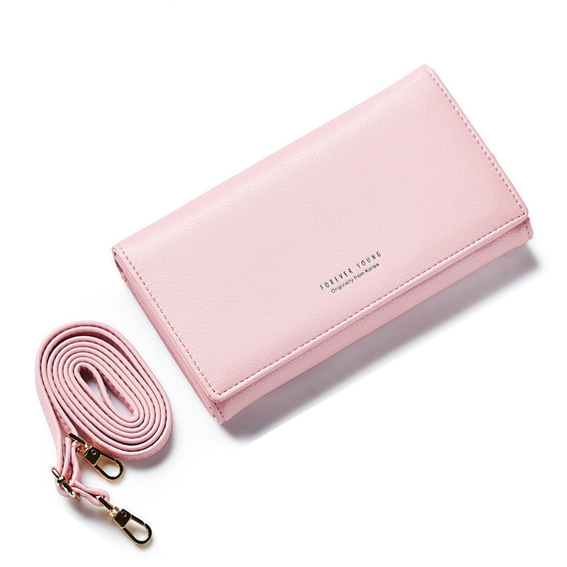 Fashion Women Wallets PU Leather Wallet Female Zipper Crossbody Long Design New Coin Purse Clutch Small Shoulder Bag 2017