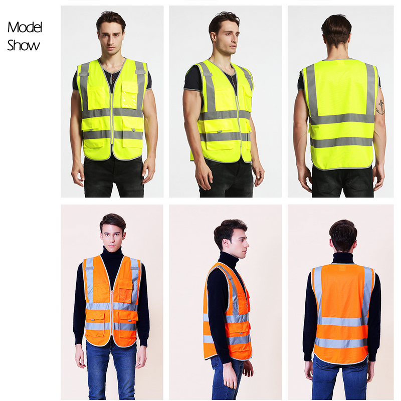 Unisex Safety High Visibility Reflection Vest For Building Safety Construction, Workwear, Wholesale Provide Logo Printing 2xu unisex membrane vest