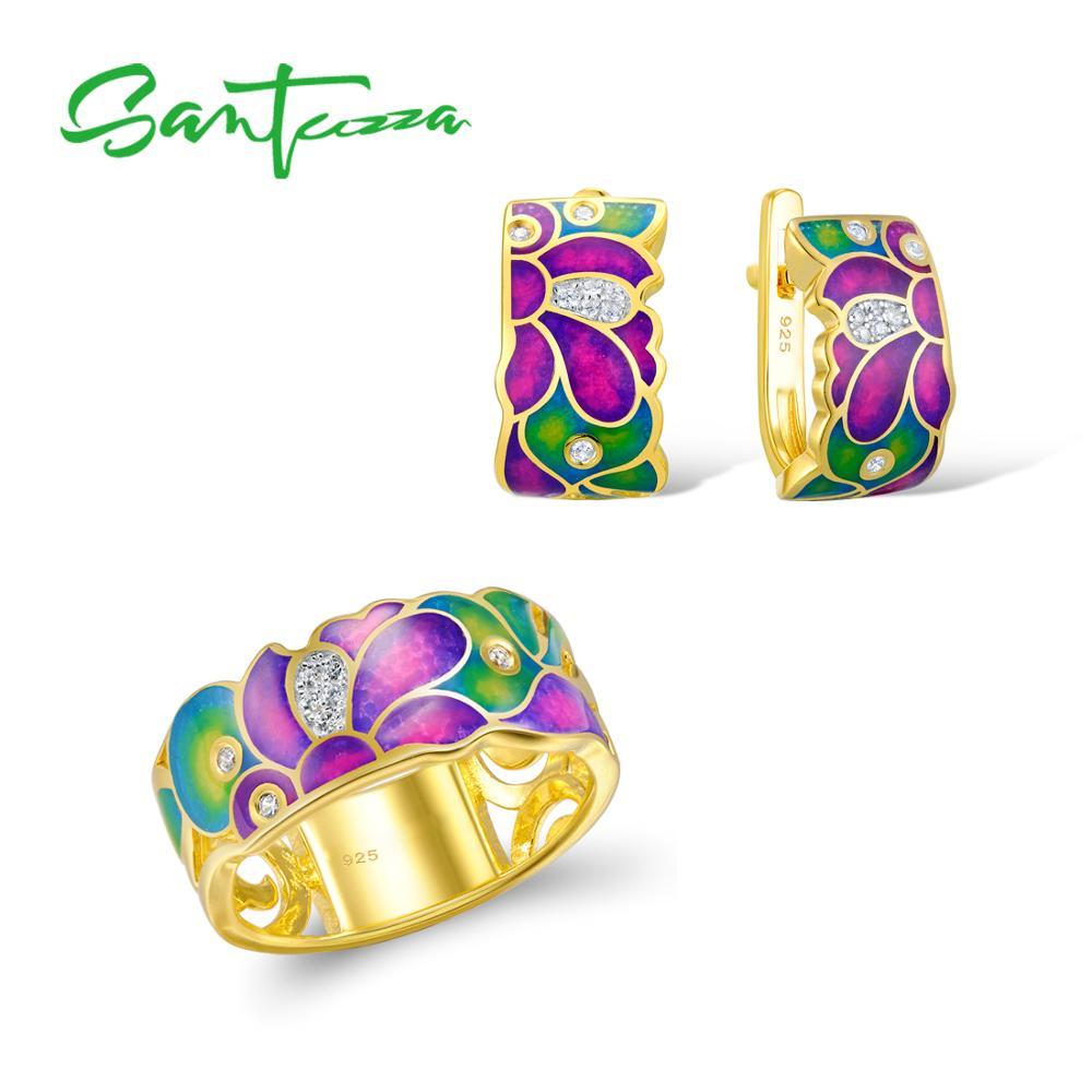 Conjunto de joyas de plata de ley 925, conjunto de joyas de moda para mujer-in Conjuntos de joyería from Joyería y accesorios    1