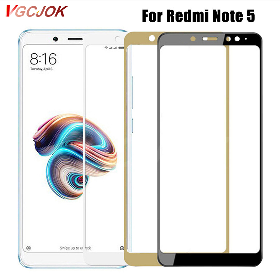 Full Cover Tempered Glass For Xiaomi Redmi Note 5 Global version Screen Protector on for Redmi Note 5 Pro Note5 Protective Film