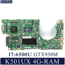 KEFU K501UX Laptop motherboard for ASUS K501UX K501UB K501U Test original mainboard DDR3 4G RAM I7