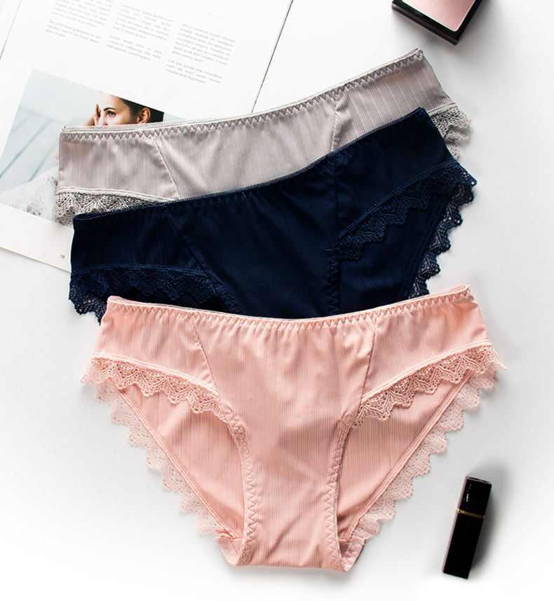 Comfort Sexy Seamless Panties Women Ladies Briefs Woman Underwear 100% Cotton Crotch Health Panties (1)