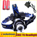 LED Headlight CREE T6 led headlamp zoom 18650 Head lights head lamp 2000lm XML-T6  zoomable lampe frontale LED flashlight zk93