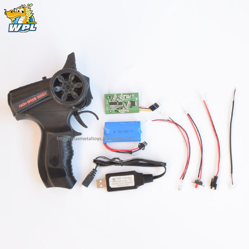 WPL Transmitter Upgrade Electronic Equipmet Set OP Fitting Accessories Model General Purpose Remote Control For KIT RC Car