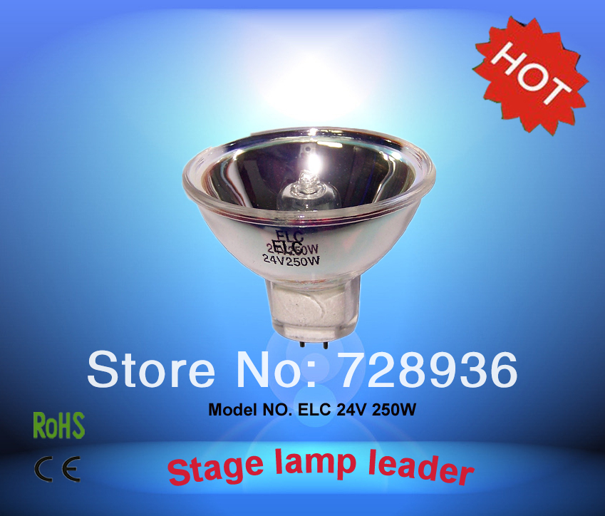 CHANGSHENG ELC 24V250W Halogen Bulb,Alternative For HLX 64653 24V 250W GX5.3 Lamp,Microscope Projector Light