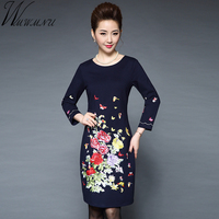 Wmwmnu 2018 Autumn Women High Quality Embroidery Pure Cotton Dress Women S Slim Office Dresses Elegant