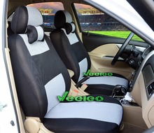 (Front +Rear) Veeleo Universal Car Seat Coves For KIA Cerato Rio Sportage Forte Sorento Spectra Ceed Soul Soul 3D Colors(China)