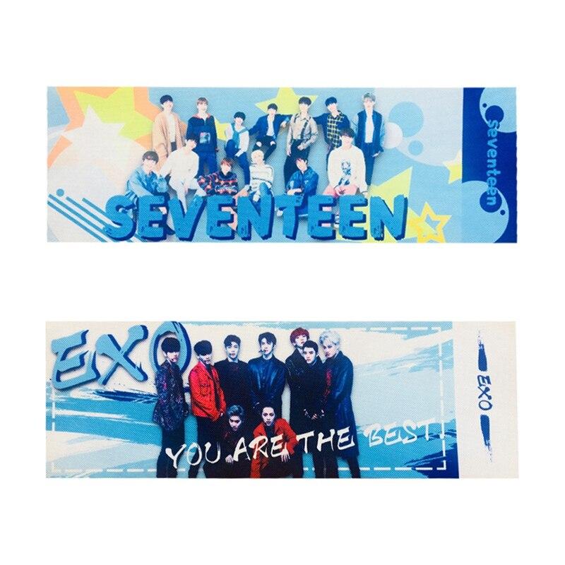 1 Pcs Kawaii EXO SEVENTEEN Concert Support  EXO SEVENTEEN  Army Hand Banner Fabric Hang Up Poster Stationery Set