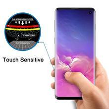 10 Stks/partij Gehard Glas Voor Samsung Galaxy S10 Plus S10E S9 S8 Note 10 Pro Screen Protector Vingerafdruk Unlock Flim volledige Cover