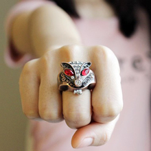Мода Фокс горный хрусталь палец кольцо смотреть Для женщин кристалл сплава случае смотреть Jewelry подарки TT @ 88
