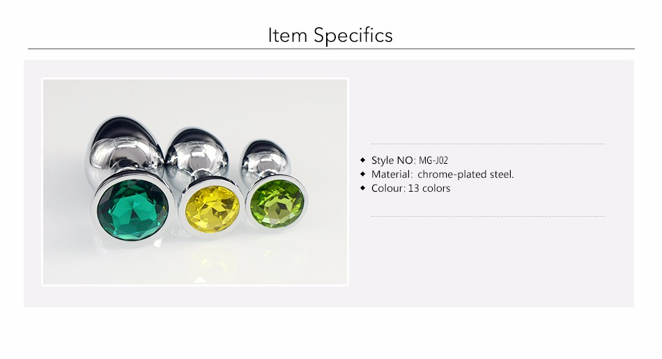 Au Reve One Piece Metal Anal Plug Sex Toys With Crystal Jewelry Booty Beads Sex Toys For Women Men Couple 2
