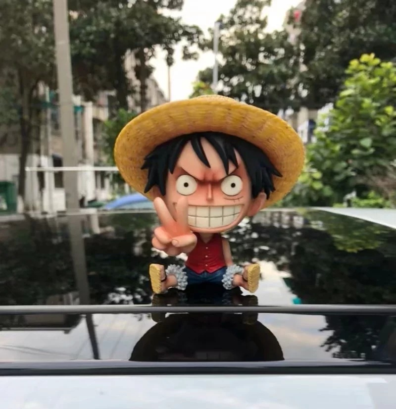 Anime One Piece Confident Oh Yeah Luffy & Nose Picking Ace Funny Cute Figure Model Toys