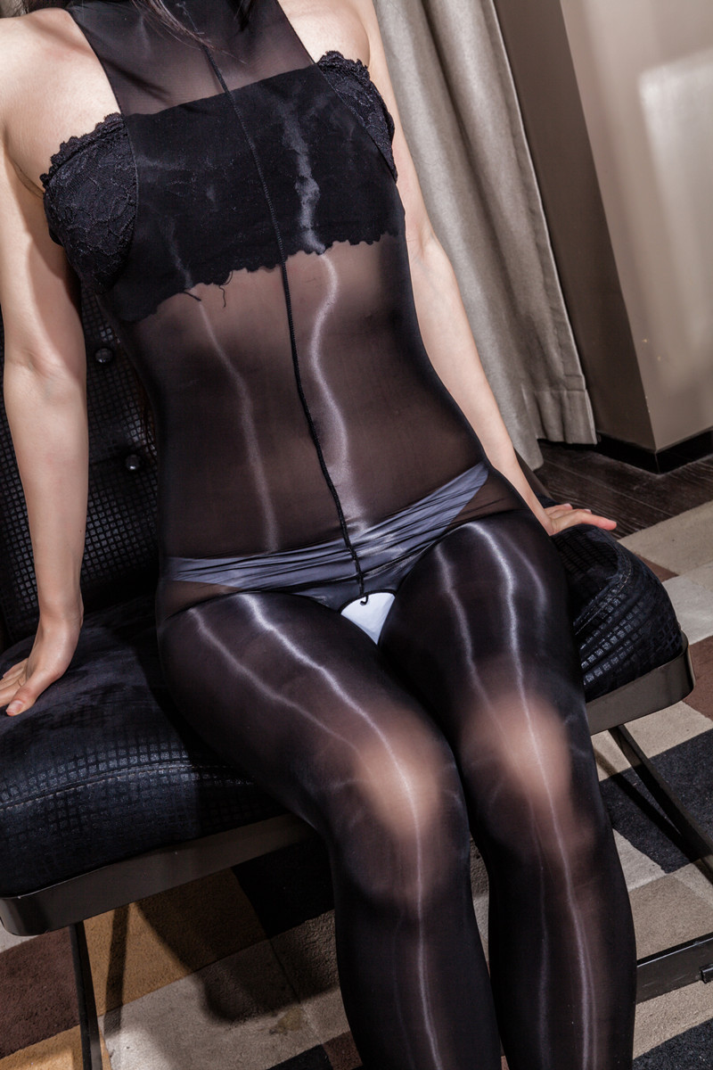 2019 Oil Shiny Bodysuit For Women High Elastic  High Cut Sexy Lingerie With Stocking Multicolor Choice  Body Stocking Lingerie
