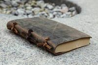 Vintage Blank Diaries Journals Notebook Note Book Genuine Leather 0010704