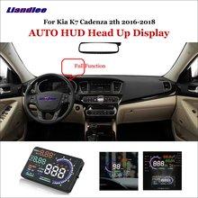 Liandlee Car Head Up Display HUD For Kia K7 Cadenza 2th 2016-2018 Digital Projector Screen OBD Mileage Fuel Consumption Detector