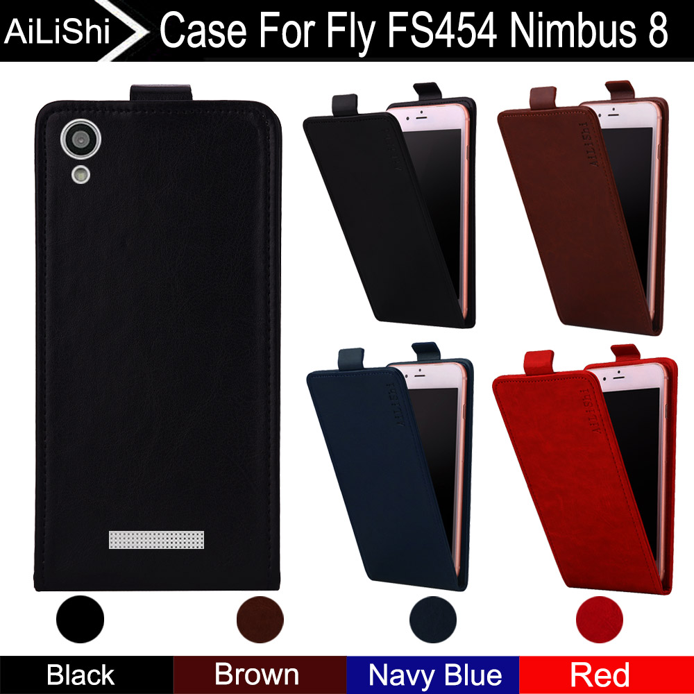 AiLiShi For Fly Nimbus 8 FS454 Case Up And Down Vertical Phone Flip Leather Case FS454 Fly Phone Accessories 4 Colors + Tracking image