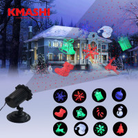 Kmashi LED Laser Projector Light Outdoor Lighting Christmas Halloween Decoration Waterproof Red Laser Light Projection Light
