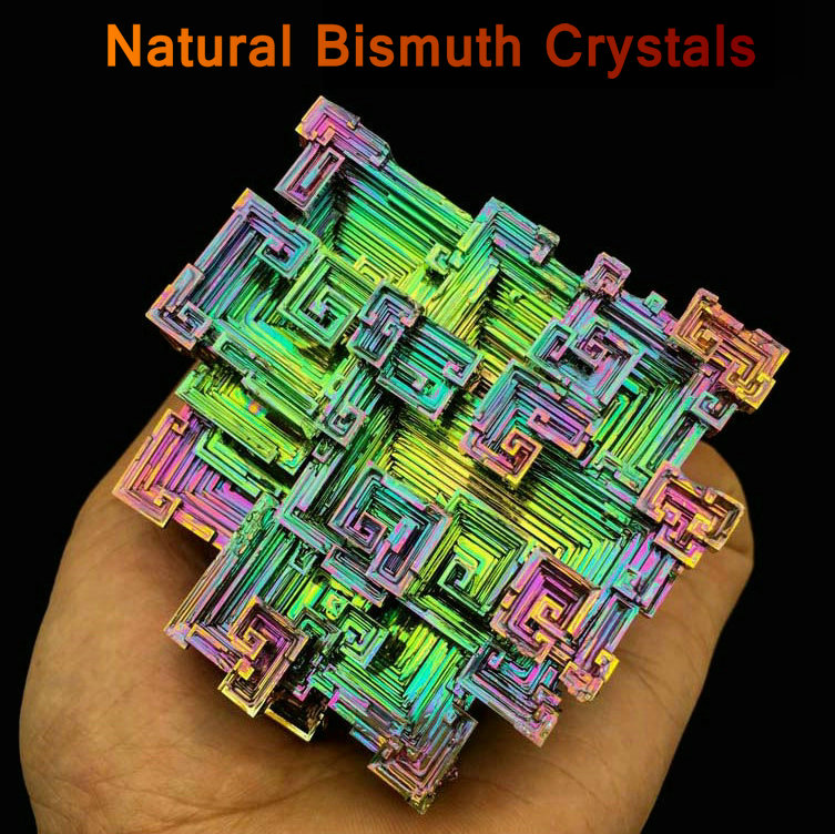 цена на Bismuth Crystals Bismuth Bi Metal Crystal Rainbow Bright Metal Mineral Specimen Original Nature Art Artwork Decorative Article