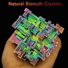 Bismuth Crystals Bismuth Bi Metal Crystal Rainbow Bright Metal Mineral Specimen Original Nature Art Artwork Decorative Article