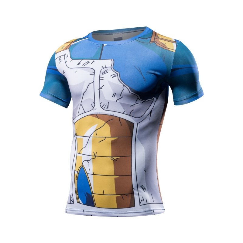 Dragon Ball Z T Shirt for Men Dragon Ball Vegeta Goku Super Saiyan Fitness T -Shirt