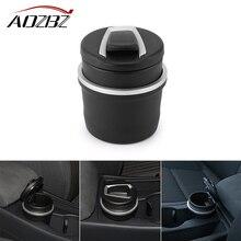 Пепельница для автомобильных сигарет со съемным ящиком для хранения чашек, бездымный с синим светодиодный светильник, крышка для BMW Cylinder