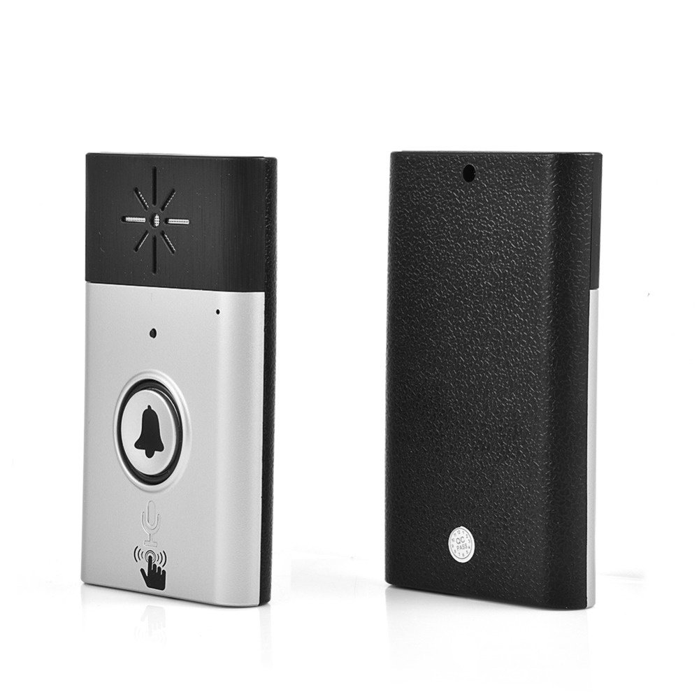 300m 2 4ghz wireless doorbell portable dual way voice intercom interphone system with high. Black Bedroom Furniture Sets. Home Design Ideas