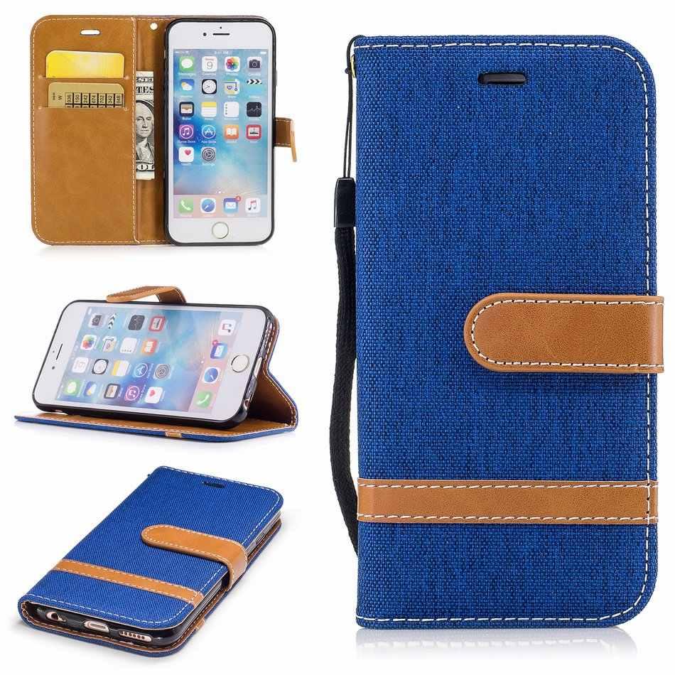 Vaquero casos para Apple iPhone XS Max 8 7 Denim tela Fundas para iPhone XR X 5S iPhone 6 S de Color de contraste Jean De aapl de