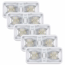 Kohree 5packs 12V Led RV Ceiling Dome Light RV Interior Lighting for Trailer Camper with Switch, Natural White 4000 4500K