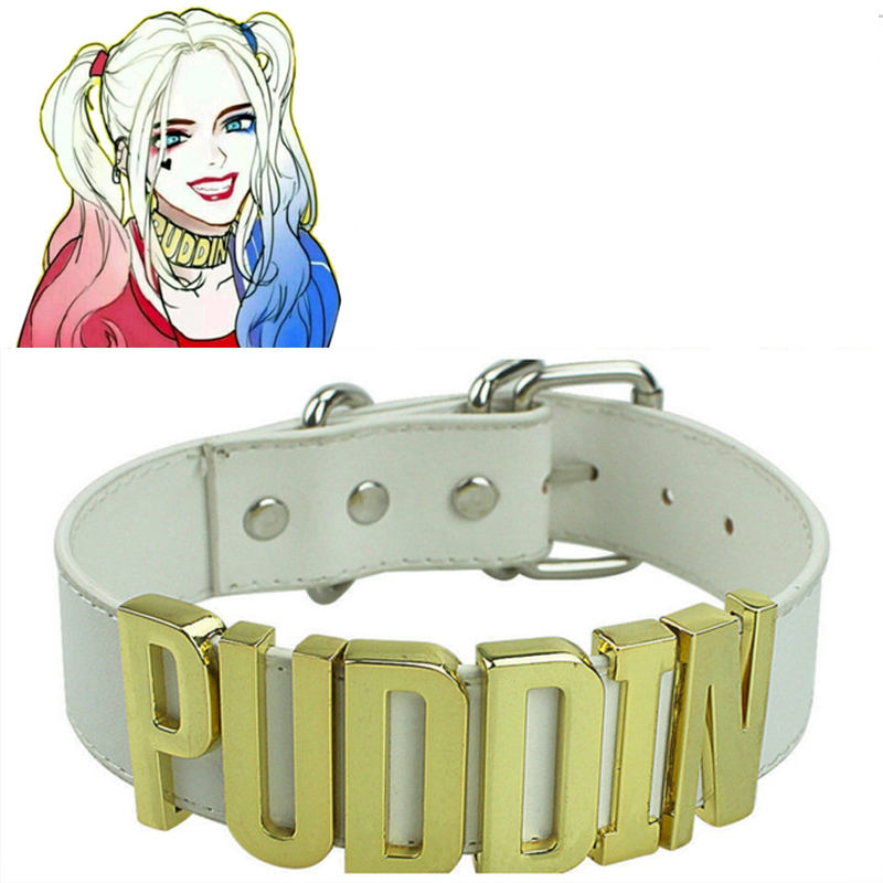 Puddin Harley Quinn Accessories Cosplay Suicide Squad Inspired Neck Choker Collar Necklace