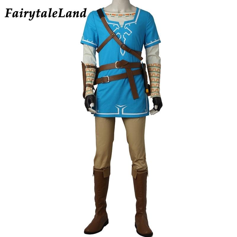 the legend of zelda breath of the wild link cosplay costume hot game cosplay halloween costume the legend of zelda link suit
