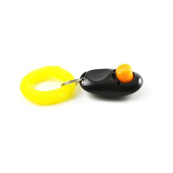 Uniwersalny Cat Dog Puppy Clicker Agility Training Button Trainer z brelokiem + pasek na rękę Pet narzędzie pomocy posłuszeństwa 899 tanie i dobre opinie FangNymph Szkolenia Clickers 116733 Z tworzywa sztucznego