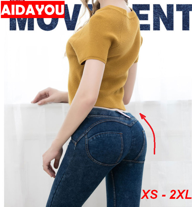 Sexy   Jeans   Butt Lifting High Waist Stretchy Plus Size Colombian Pants Hip Push Up Skinny Denim   Jeans   ouc262B