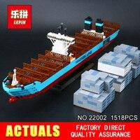 Lepin 22002 1518Pcs Genuine Technic Series Maersk Line Triple E Toys Building Blocks Bricks DIY Educational Model 10241