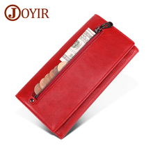 JOYIR New Ladies Wallet Genuine Leather Women Clutch Bag Long Wallet Female Zipper Wallet Phone Coin Purse Credit Card Holder 2018 new women wallet long genuine leather ladies purse phone holder female clutch big capacity for women coin card purse