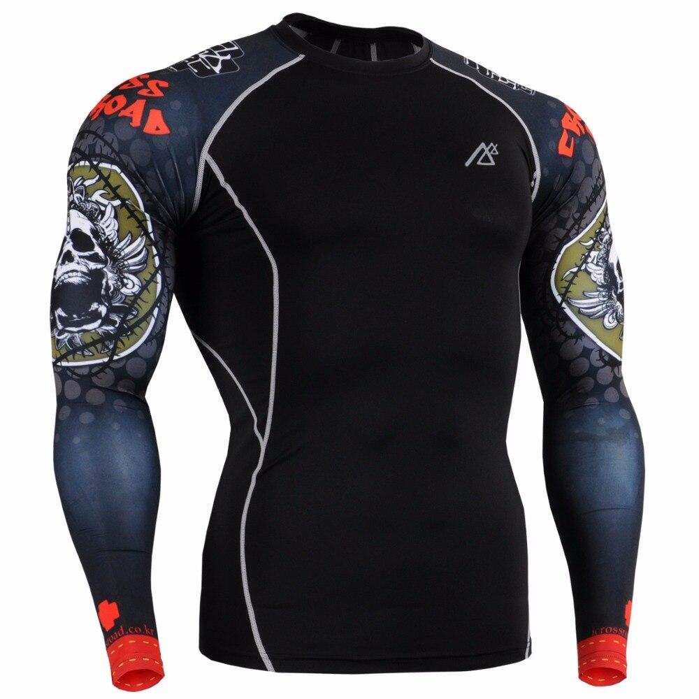Leben auf der spur herren Sportswear Hauteng Compression Shirts & Strumpfhosen Set Fitnesstraining MMA Workout Fitness Bekleidung Set - 3